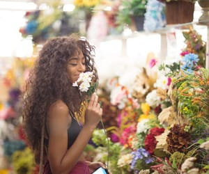 flowers, girl, and sweet image