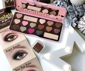 chocolate, eyes, and fashion image