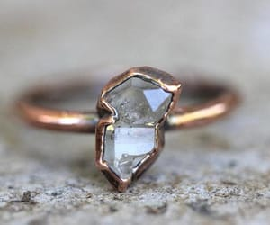 etsy, natural crystals, and quartz crystal ring image