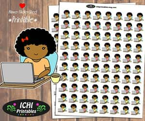 african american, work, and computer stickers image