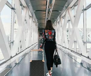 travel, airport, and outfit image