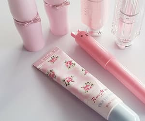 pink, pastel, and cosmetics image