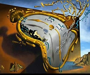 surrealism, salvator dali, and melting watch image
