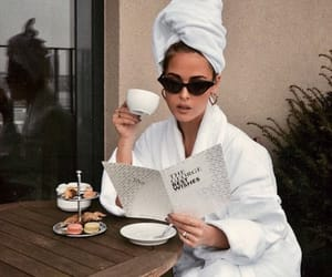 girl, coffee, and sunglasses image
