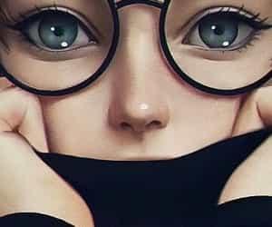 dibujo, pensativa, and ojos grandes image