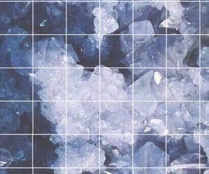 wallpaper, blue, and crystal image