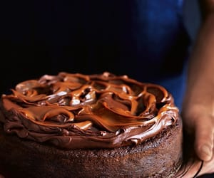 cake, fat, and chocolate image