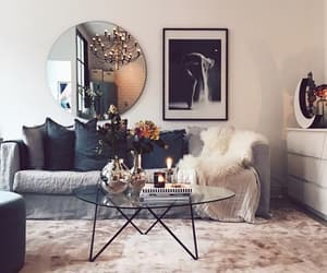 home, living room, and mirror image