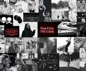 black, black and white, and stranger things image