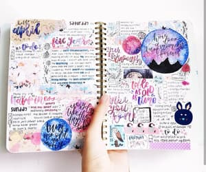 college, journaling, and pink image