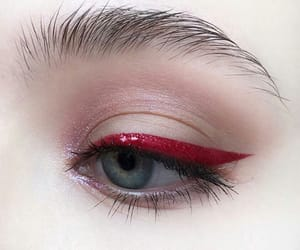 eye, red, and beauty image