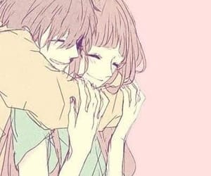 anime, couple, and hug image