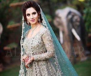 wedding dress, lehenga, and indian bride image