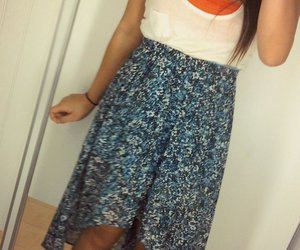 floral high low skirt image