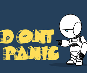 message and don't panic image
