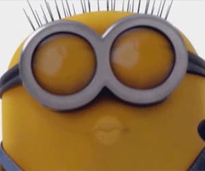gif, minions, and smile image