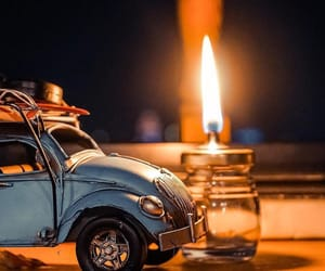 beetle, candle, and car image