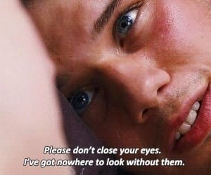 love, movie, and eyes image