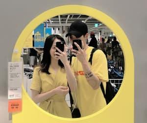 couple, yellow, and korean image
