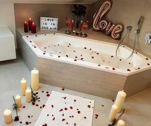 love, romantic, and bath image