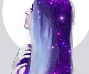 girl, galaxy, and hair image