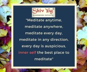 meditate, meditation, and shiv yog image