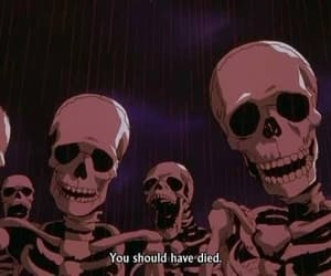 aesthetic, quotes, and skeleton image