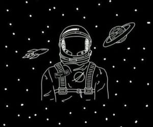 wallpaper, astronaut, and stars image