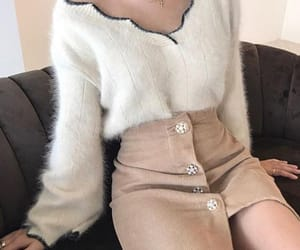 fashion, skirt, and faux fur image