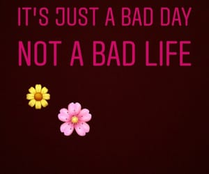 bad day, don't give up, and flowers image