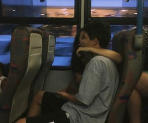couple, love, and bus image