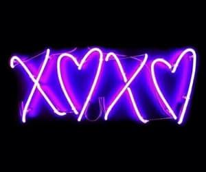 purple, neon, and xoxo image