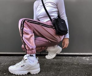 fashion, Fila, and pink image