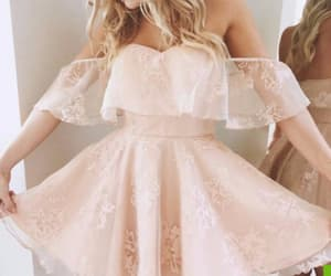 dress and pink homecoming dress image