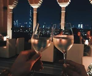 night, drink, and wine image
