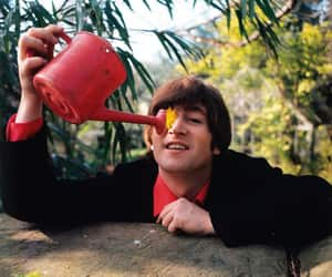john lennon, flowers, and the beatles image