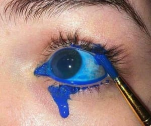 blue, eye, and tumblr image