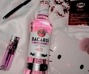 pink, bacardi, and alcohol image