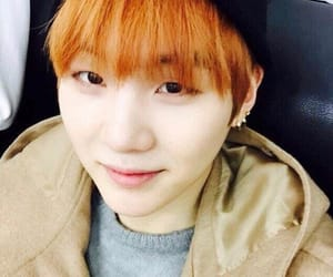 agust d, suga, and orange hair image