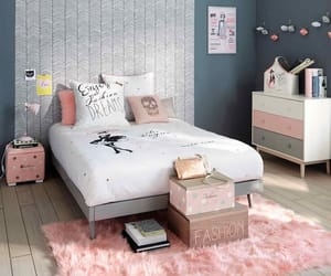 pink, bedroom, and design image