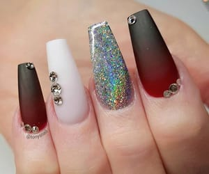 acrylics, sliver, and longnails image