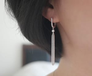 earrings, Pave, and cz image