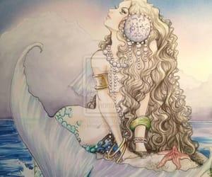 moon and mermaid image