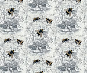 background, bee, and floral image