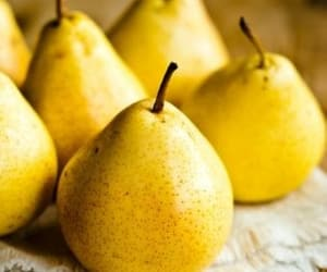 pear, fruit, and yellow image