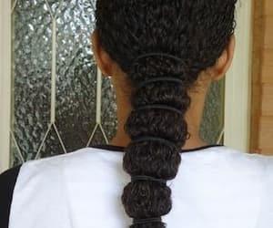 black hair, curly hair, and natural hair image