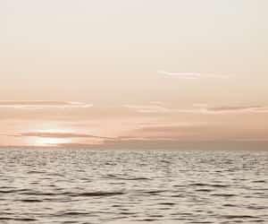 blue, sunrise, and sunset image