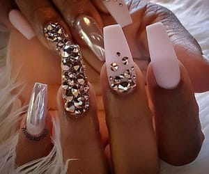 nails, sparkle, and style image