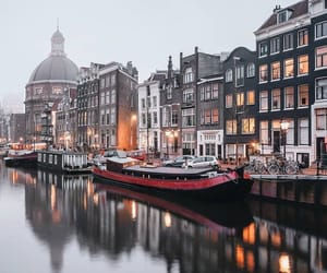 travel, water, and amsterdam image