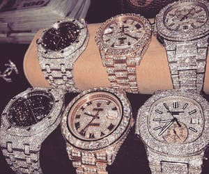 diamond, luxury, and rolex image